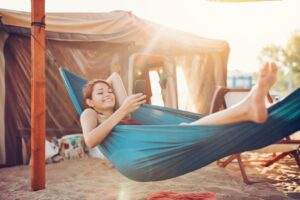 Hang A Hammock With Post or Poles