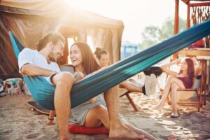 Use A Tent Peg To Hang Your Hammock